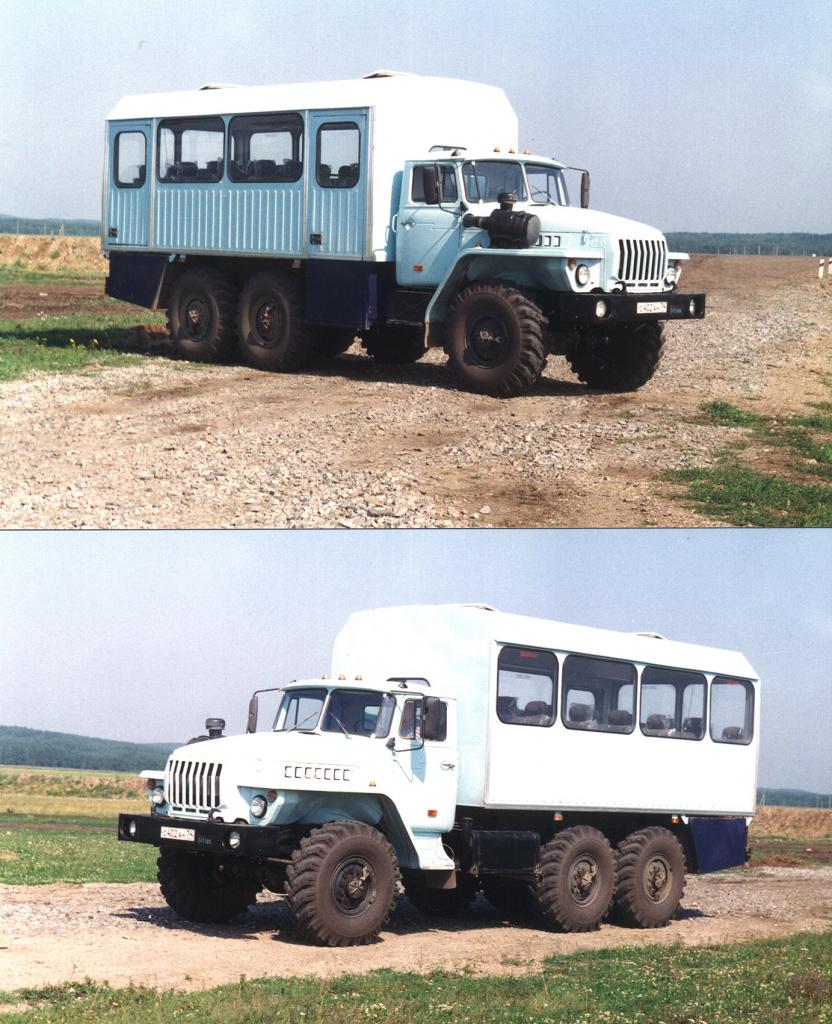 Первый вахтовый автобус Урал