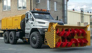 На шасси «Урал NEXT» создан новый шнекороторный снегоочиститель